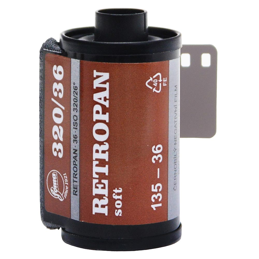 Foma Retropan Soft 320 Black & White Film – 35mm Format – 36 Exposure
