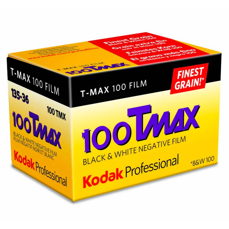 Kodak TMax 100 TMX Black & White 35mm Film – 36 Exposures