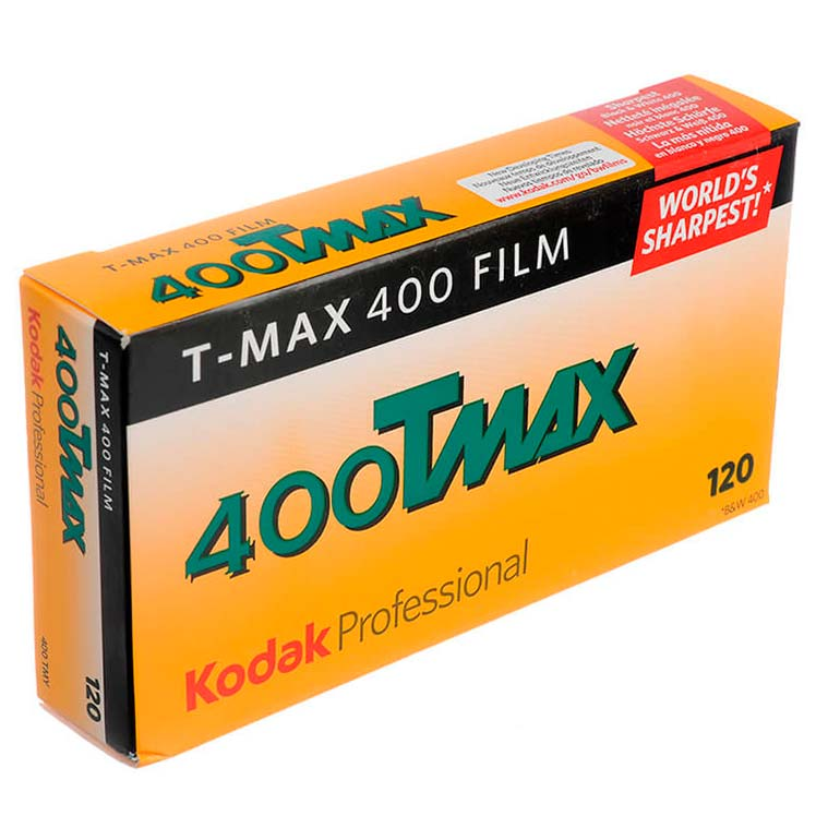 Kodak TMax 400 TMY Black & White 120 Roll Film – 5 Pack