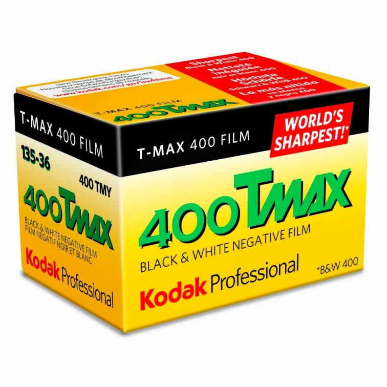 Kodak TMax 400 TMY Black & White 35mm Film – 36 Exposures