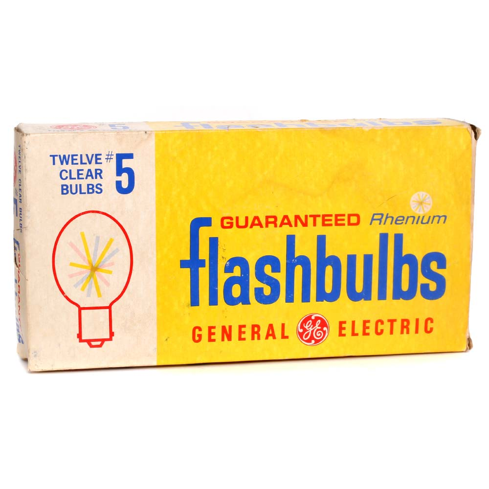 General Electric #5 Clear Flashbulbs – 12 Pack