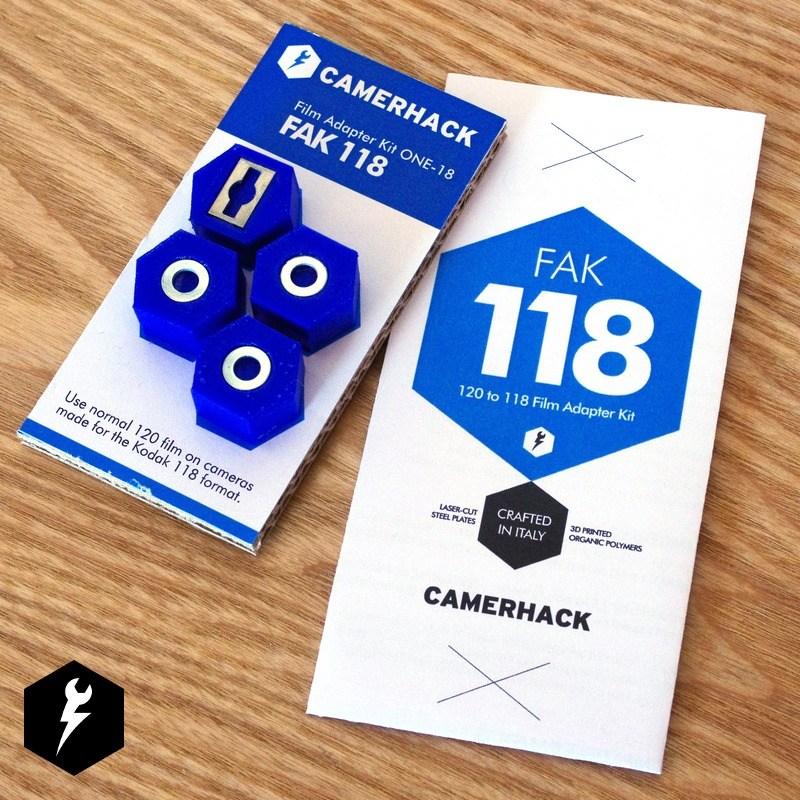 CameraHack 120 Rollfilm to 118 Rollfilm Adapter Kit