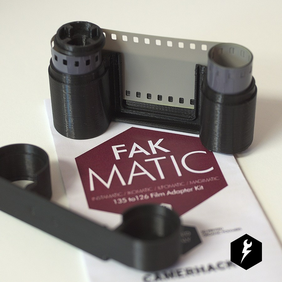 CamerHack FAKMATIC 126 Film Cassette for use with 35mm Film