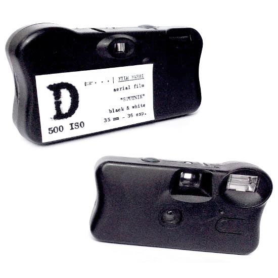 "Film Washi ""D"" 35mm Single Use Camera – Russian Aerospace – Panchromatic – 500 iso – 36 exp"