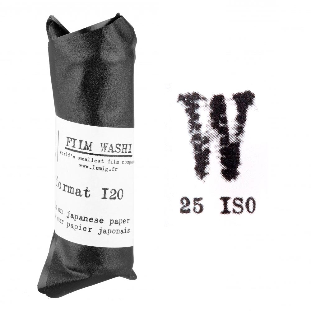 "Film Washi ""W"" 120 Roll Film – Orthochromatic – 25 iso – Kozo Paper"
