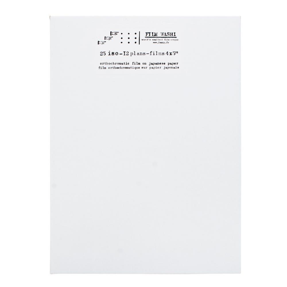 "Film Washi ""W"" 4×5″ – Orthochromatic – 25 iso – 12 Sheets – Kozo Paper"