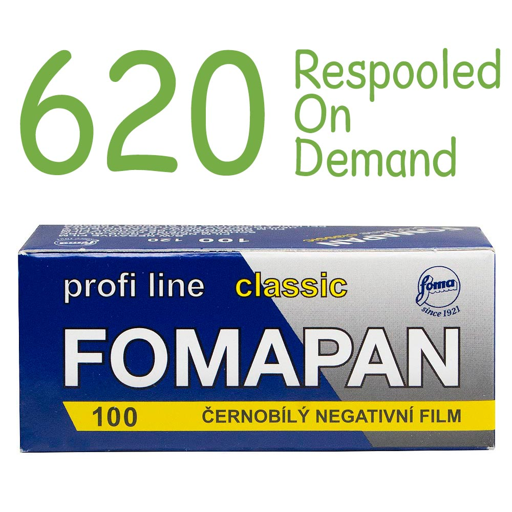 Fomapan 100 Classic Black & White 620 Roll Film – Respooled On Demand