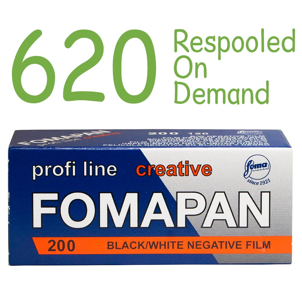 Fomapan 200 Creative Black & White 620 Roll Film – Respooled On Demand