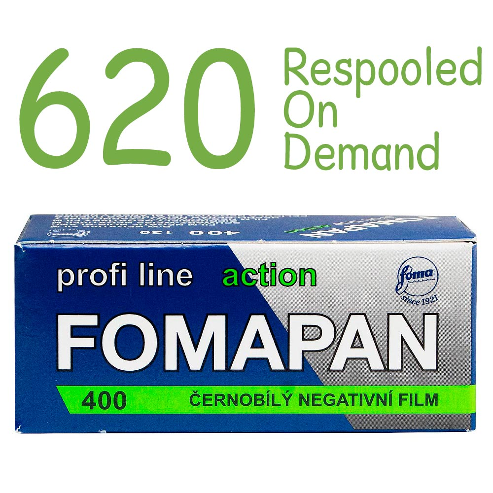 Fomapan 400 Action Black & White 620 Roll Film – Respooled On Demand