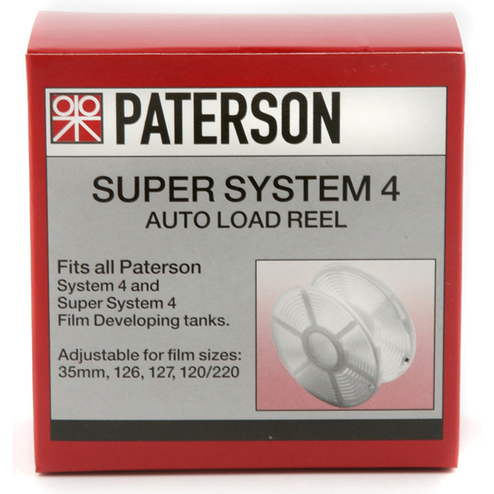 Paterson Auto Load Film Developing Reel for 35mm, 127 and 120 Rollfilm