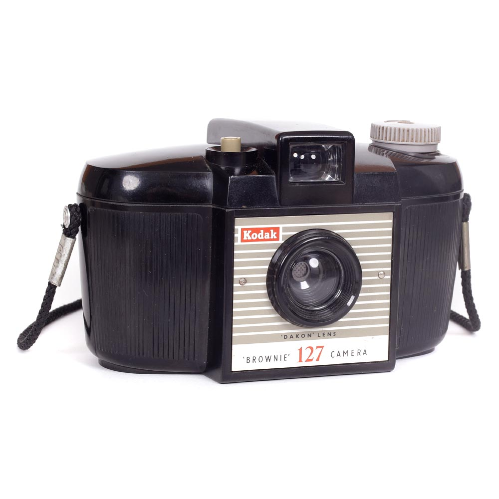 Kodak Brownie 127 Camera with Neck Strap – Second Model (#2)