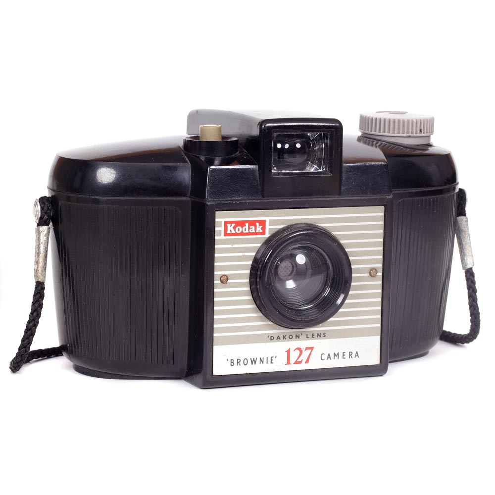 Kodak Brownie 127 Camera with Neck Strap – Second Model (#3)