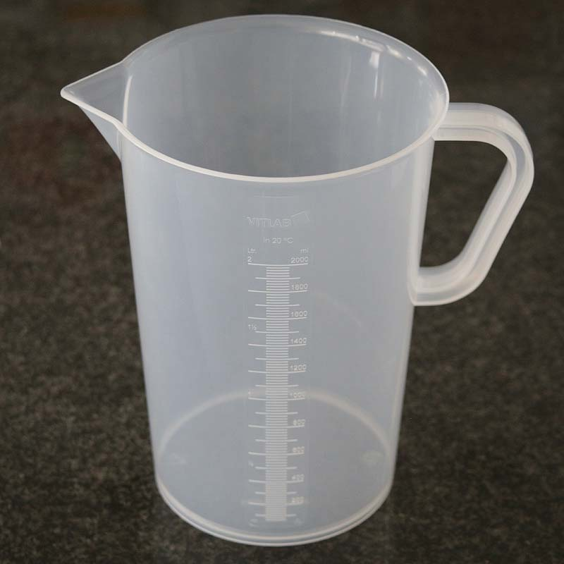 2000ml Vos/Vitlab PP Graduated Measuring/Mixing Beaker – Tall – Laboratory Quality