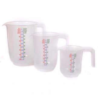 Budget Measuring 3-Pack Graduates - 250ml - 500ml - 1000ml