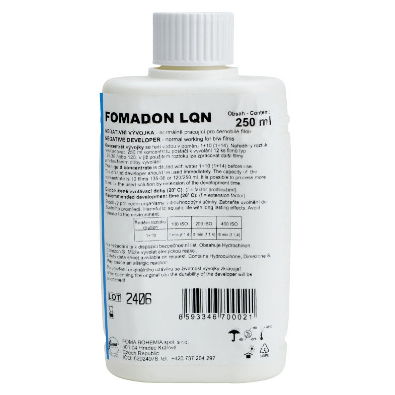 Foma FOMADON LQN Film Developer – 250 ml Concentrate