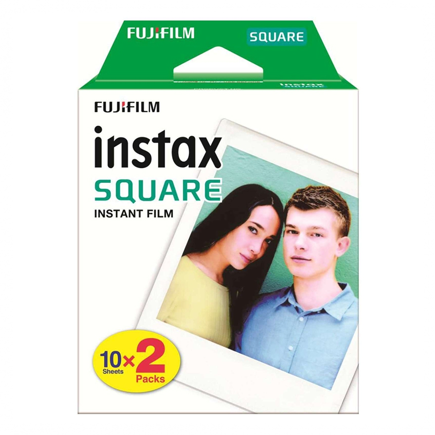 Fujifilm Instax Square Color Film – White Border – 2 X 10 Exposure Packs