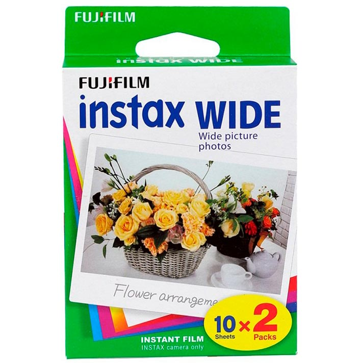 Fujifilm Instax Wide Color Film – White Border – 2 X 10 Exposure Packs