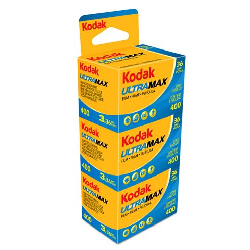 Kodak UltraMax 400 Color Print 35mm Film – 36 Exposures – 3 Pack