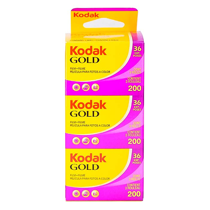 Kodak Gold 200 Color Print 35mm Film – 36 Exposures – 3 Pack