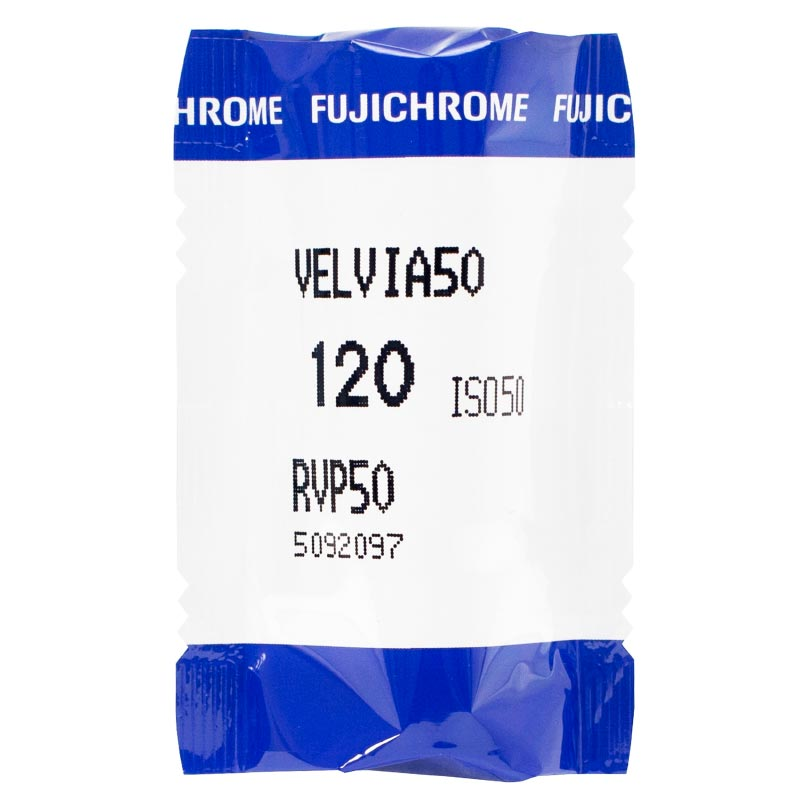 FujiChrome Professional Velvia 50 Color Reversal/Slide 120 Roll Film