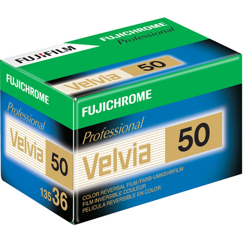 FujiChrome Professional Velvia 50 Color Reversal/Slide 35mm Film – 36 Exposures