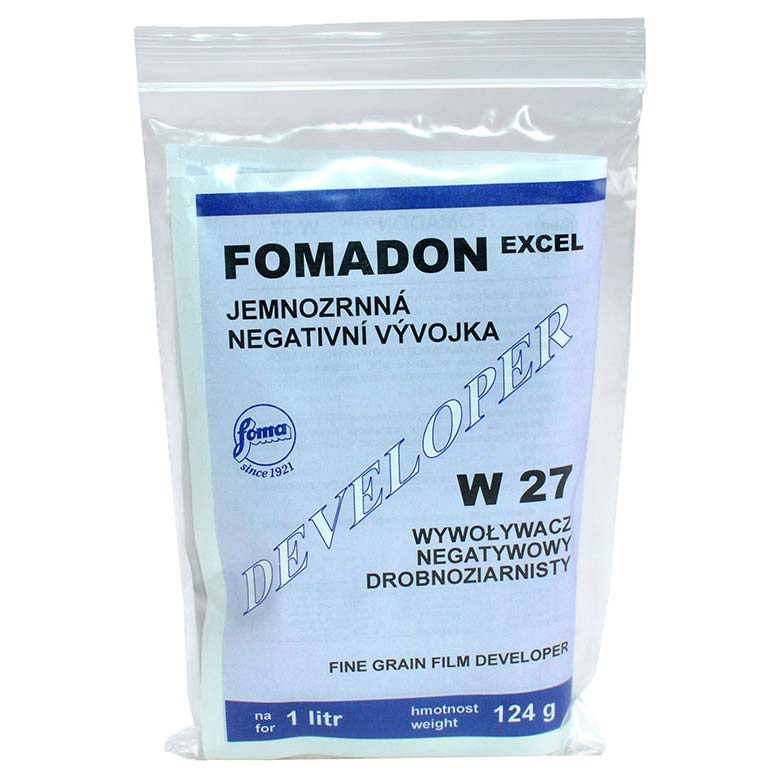 Foma FOMADON EXCEL W27 Film Developer – Powder to make 1 Liter