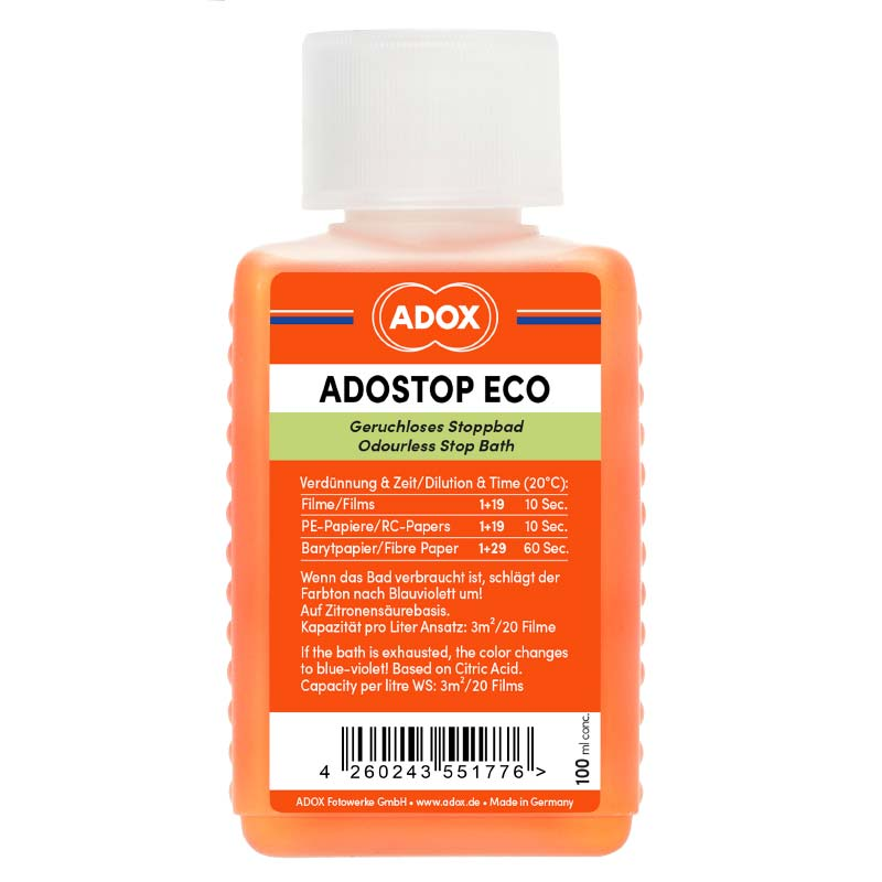 Adox ADOSTOP ECO Indicator Stop – 100 ml Concentrate