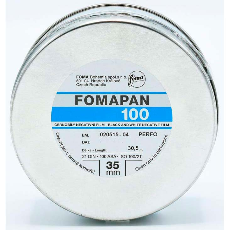 Fomapan 100 Classic Black & White Film – 35mm – 30.5 Meter Bulk Roll