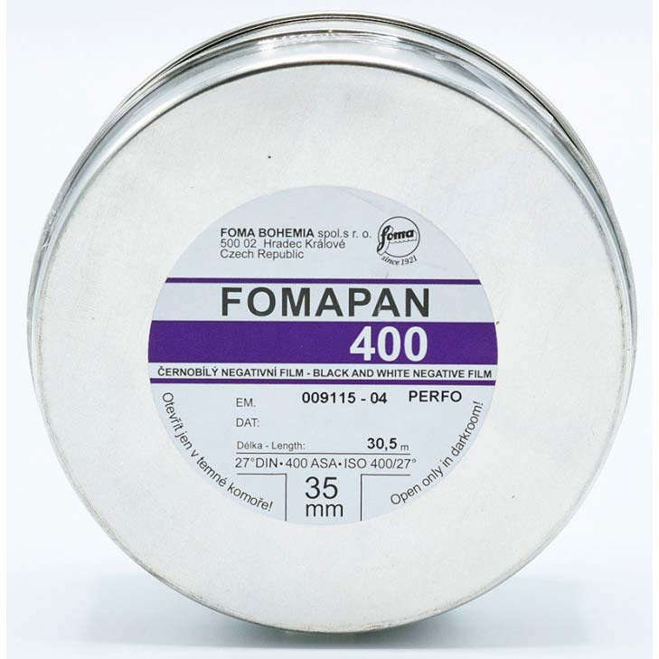 Fomapan 400 Action Black & White Film – 35mm – 30.5 Meter Bulk Roll