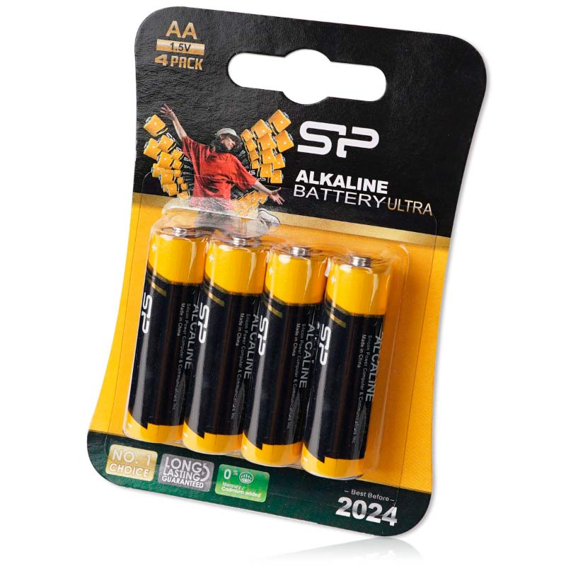 Silicon Power Ultra Alkaline AA Batteries – 4 Pack