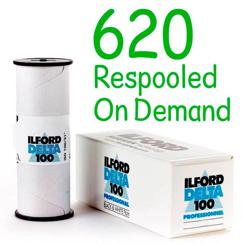 Ilford DELTA 100 Professional Black & White 620 Roll Film – Respooled On Demand