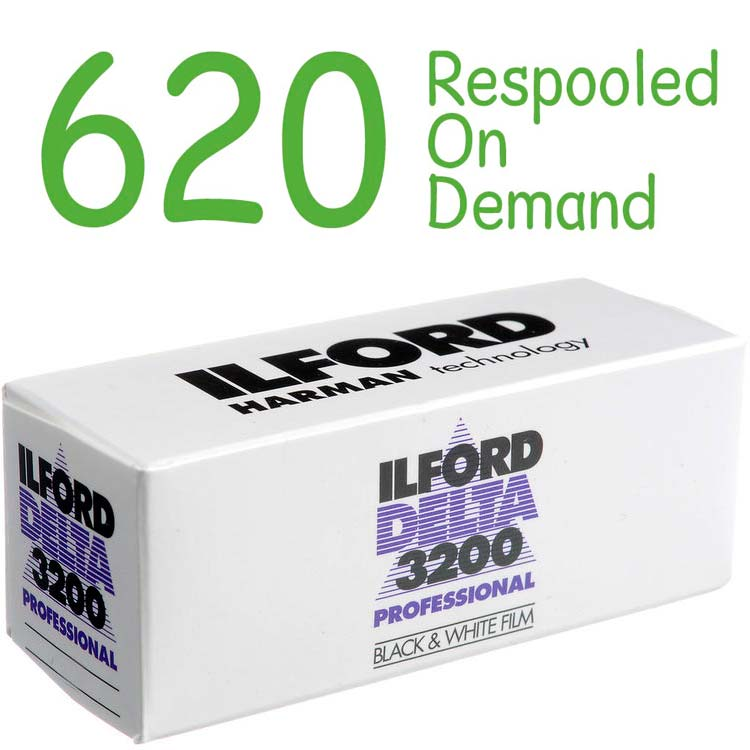 Ilford DELTA 3200 Professional Black & White 620 Roll Film – Respooled On Demand