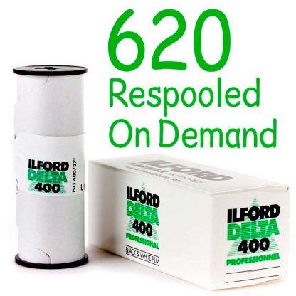 Ilford Delta 400 620 respooled