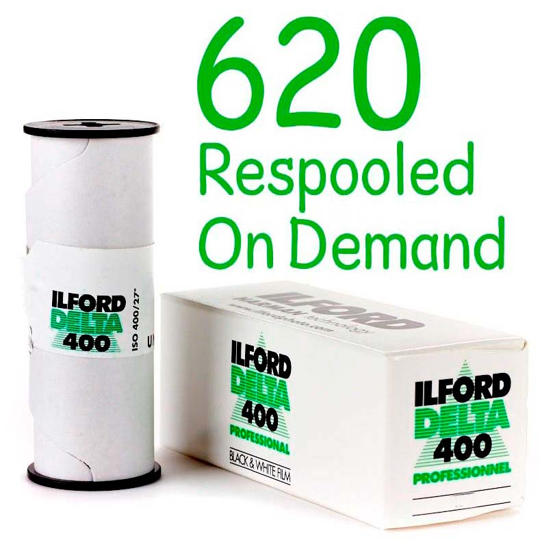 Ilford DELTA 400 Professional Black & White 620 Roll Film – Respooled On Demand