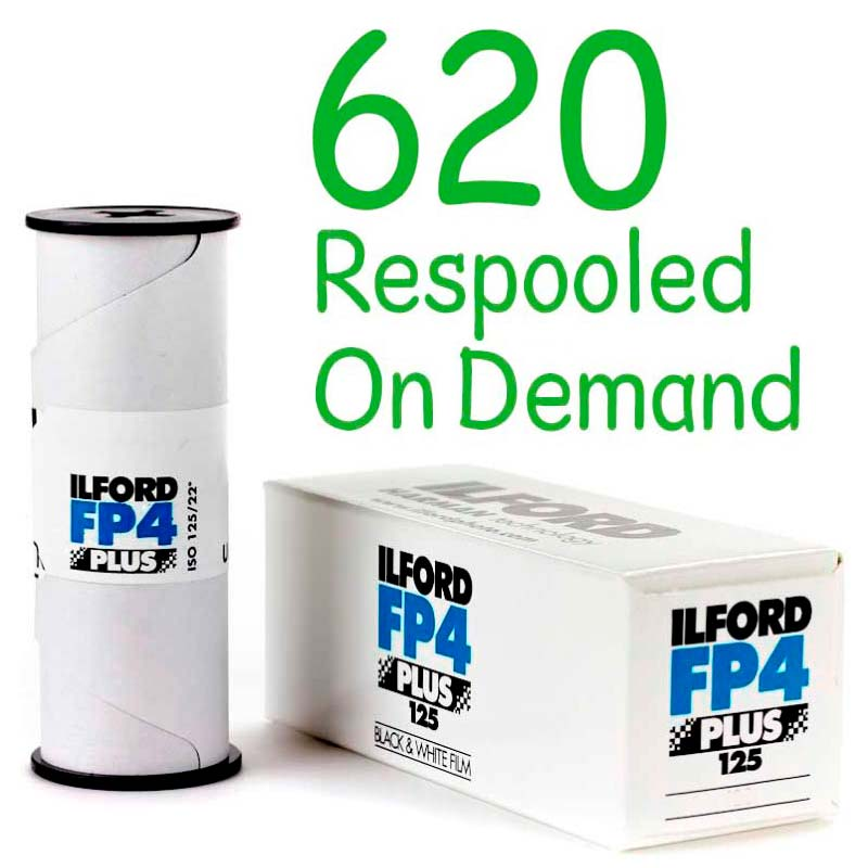 Ilford FP4 PLUS Black & White 620 Roll Film – Respooled On Demand