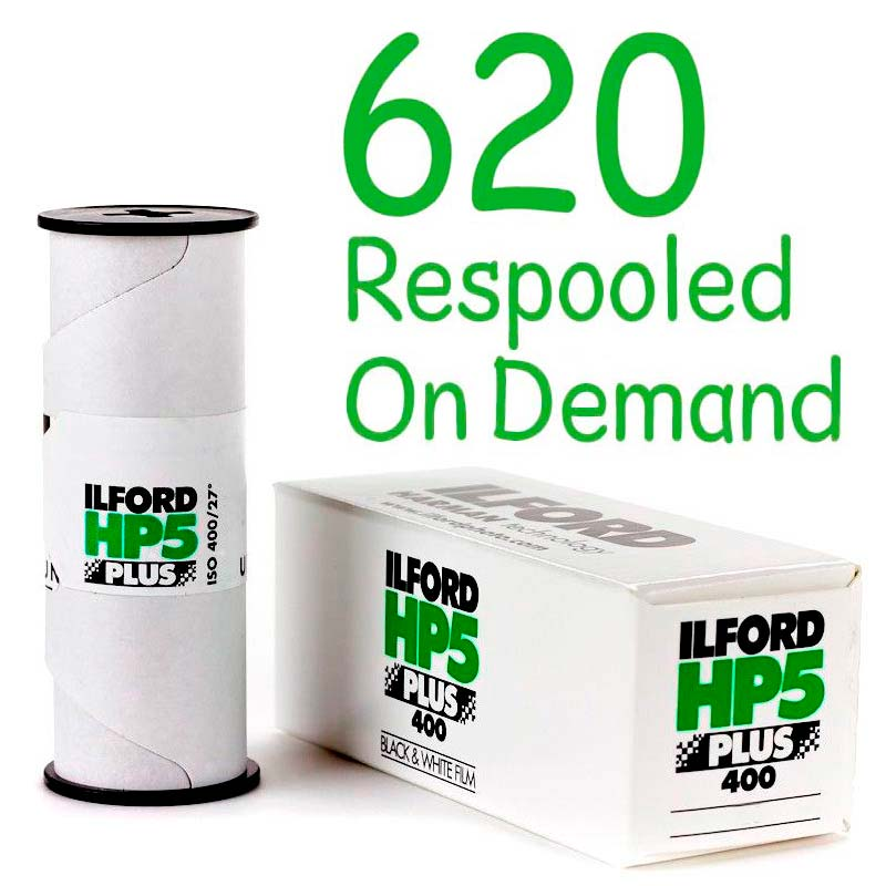 Ilford HP5 PLUS Black & White 620 Roll Film – Respooled On Demand