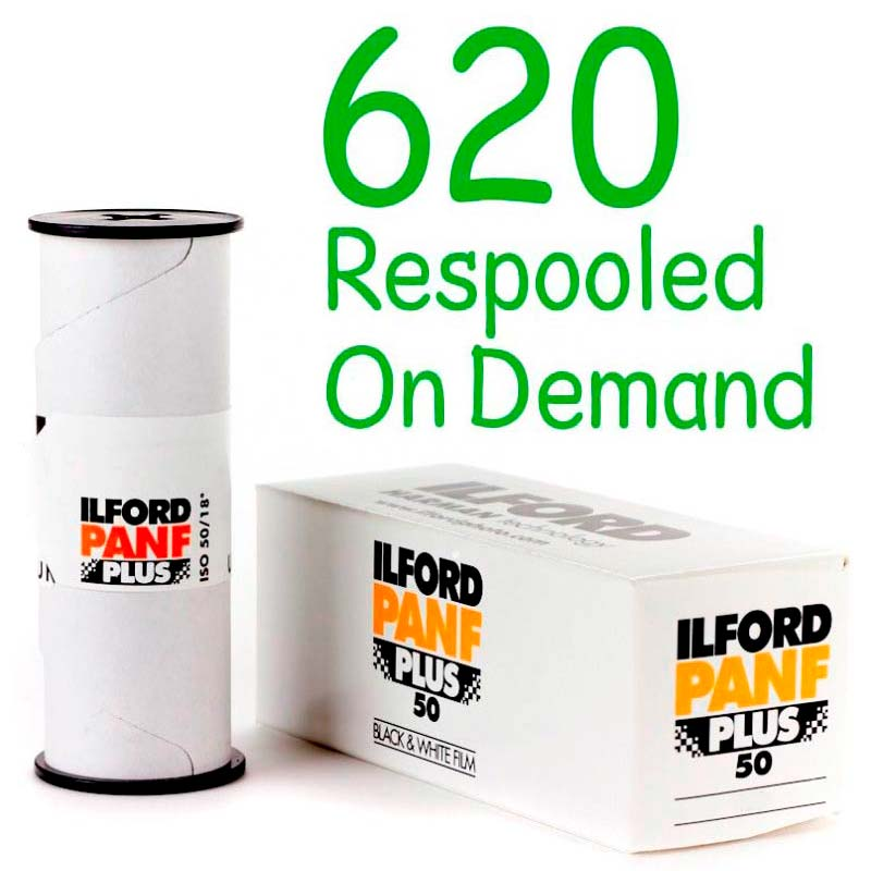 Ilford PAN F PLUS Black & White 620 Roll Film – Respooled On Demand