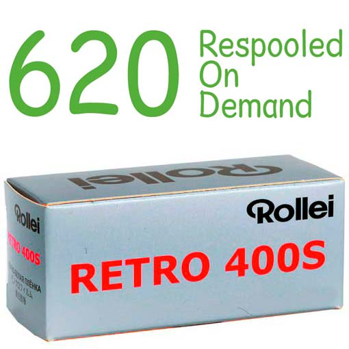 Rollei Retro 400S Black & White 620 Roll Film – Respooled On Demand