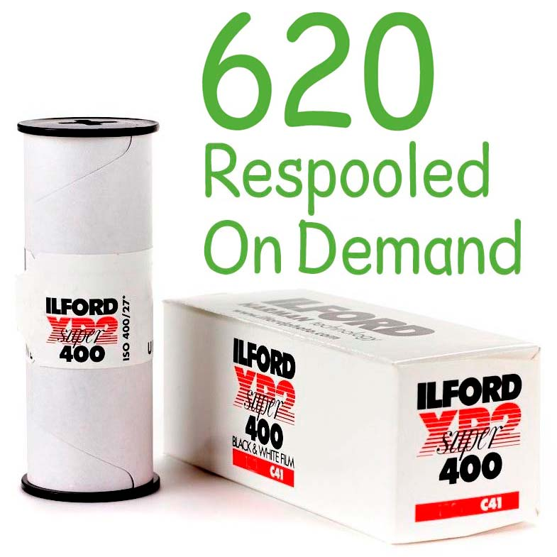 Ilford XP2 SUPER Black & White 620 Roll Film – Respooled On Demand