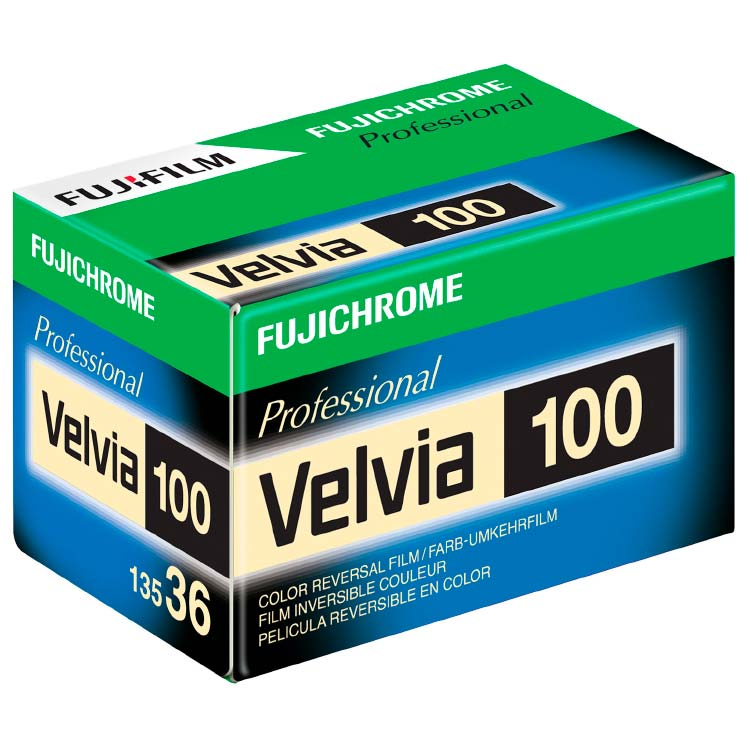 FujiChrome Professional Velvia 100 Color Reversal/Slide 35mm Film – 36 Exposures