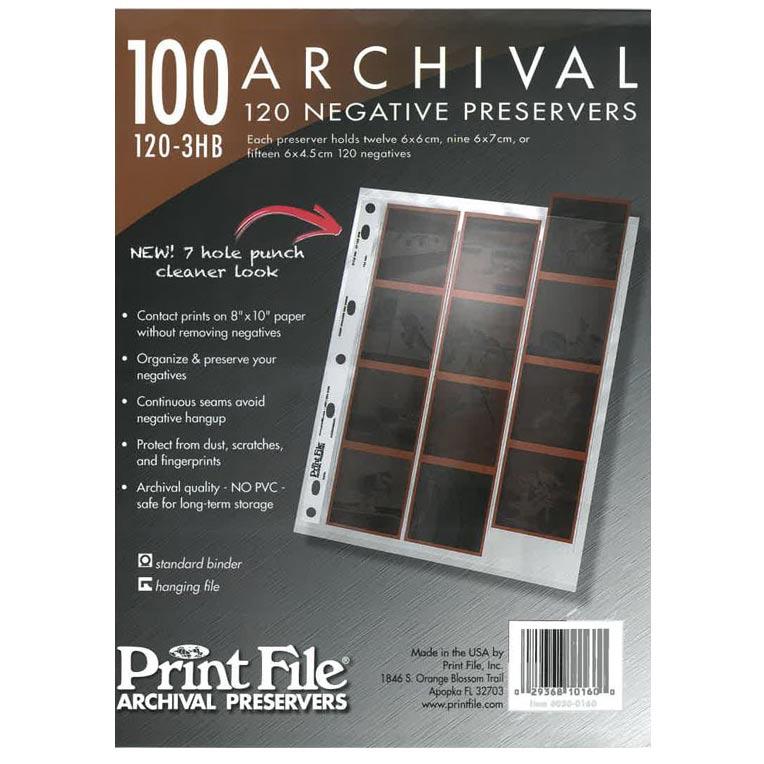 Printfile PF 120-3HB Archival Negative Preservers – 100 Pack