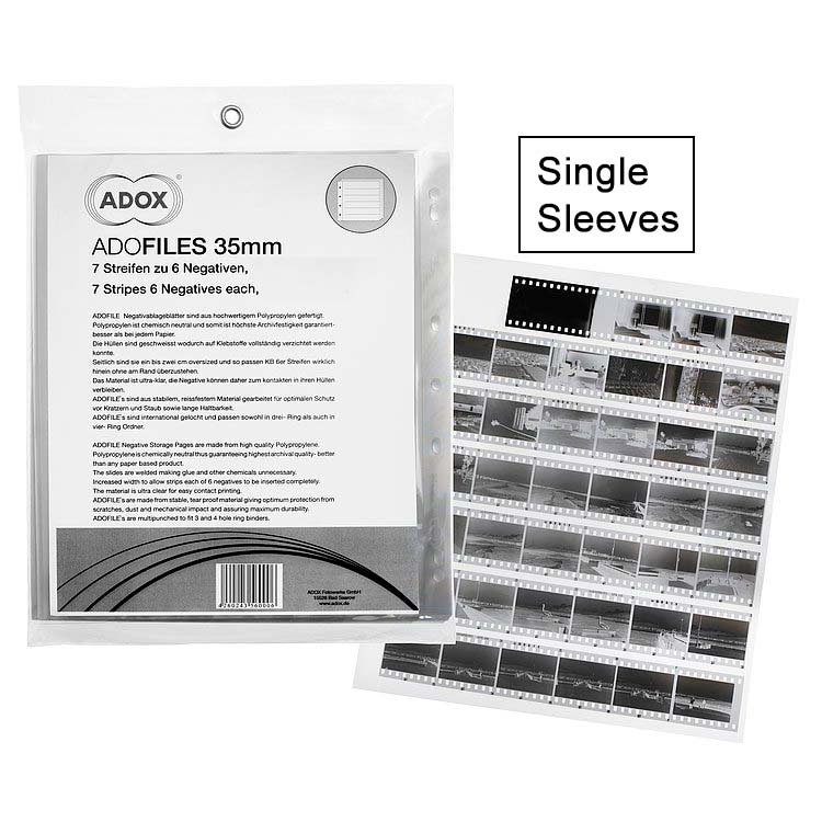 ADOX Adofile Polypropylene Negative Oversized Sleeve For 35mm Film – Single Sleeve