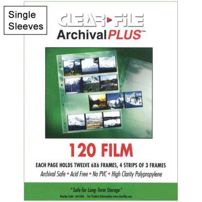 Clear File 120 6x6 single sleeve
