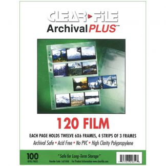 Clear File 120 6x6 100 pack