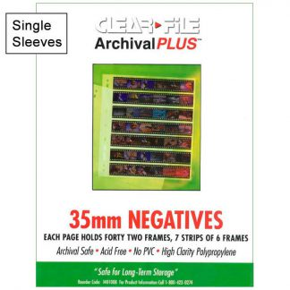 Clear File 35mm Archival Plus 42 Image Negative Preservers - Single Sleeve