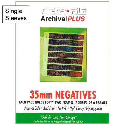 Clear File 35mm Archival Plus 42 Image Negative Preservers - Single Sleeve