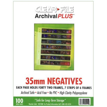 Clear File 35mm Archival Plus 42 Image Negative Preservers - 100 Pack