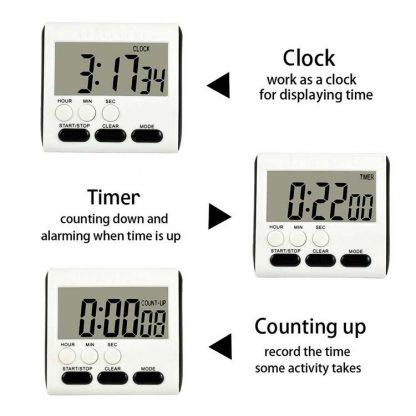 Digital Timer & Clock with Alarm 4