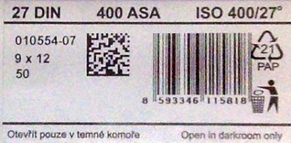 FOMAPAN 400 9X12CM SHEET FILM - 2