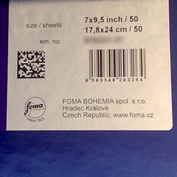 Fomaspeed Variant 311 Variable Contrast RC Paper - Glossy Finish - 17,8x24cm - 50 Sheets - 2